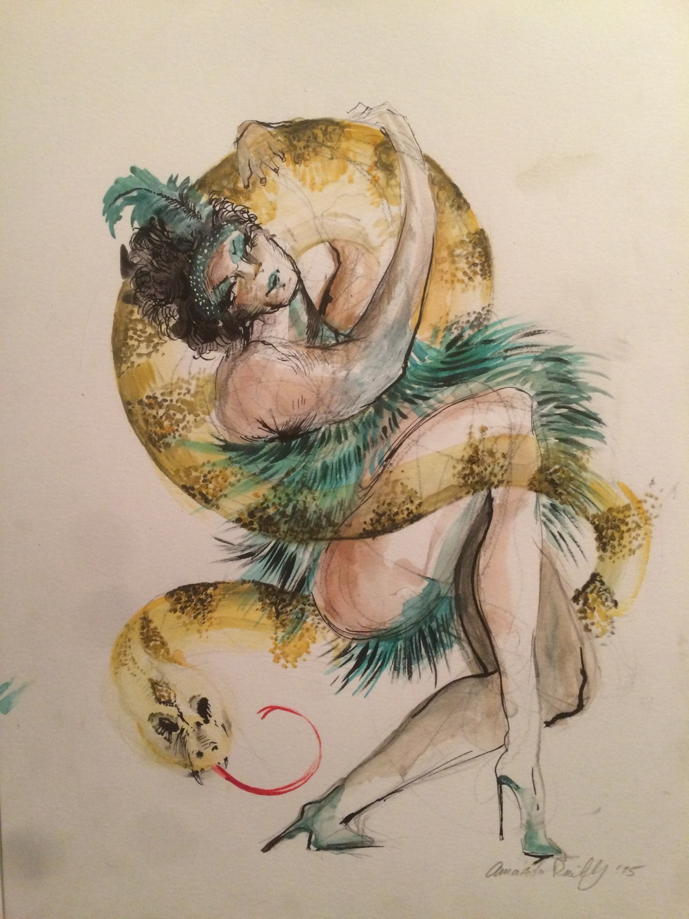Princess Pat dancing with her beautiful snake at the Sideshow!  (Available For Purchase)