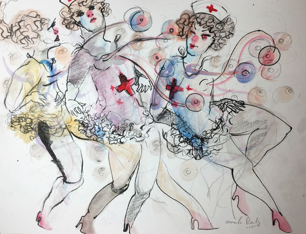 Jenny Rocha and The Painted Ladies  (Drawing available for purchase)