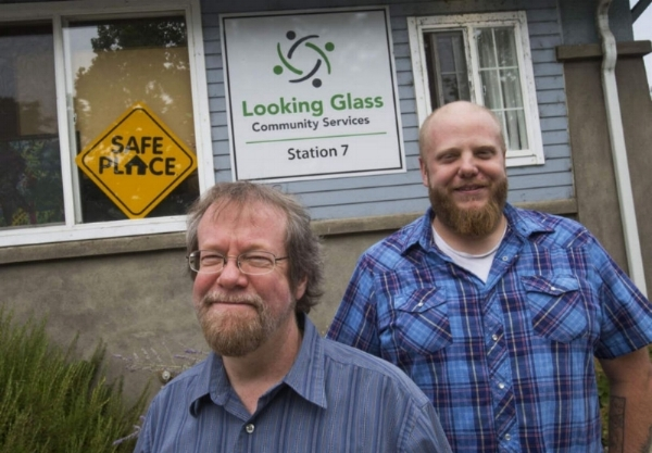Craig Opperman (left) is president and CEO of Looking Glass Community Services. James Ewell is runaways services manager for Looking Glass. The agency was founded in 1970 and today is a multi-faceted organization that offers help to thousands of homeless and at-risk youth each year. (Chris Pietsch/The Register-Guard)