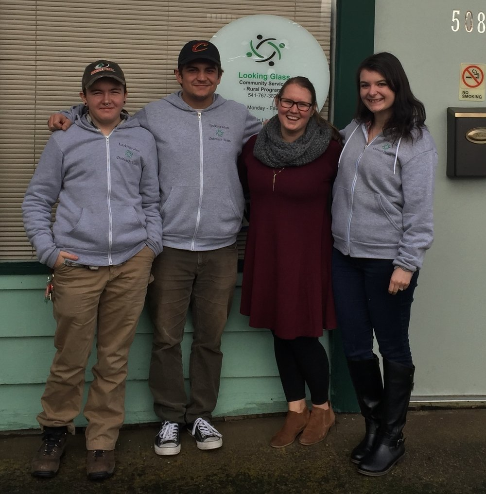 Rural program staff: Luca Long, Sammy Elsdon, Amanda Hampton and Chelsea Stone.