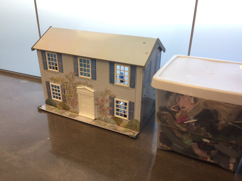 A doll house is one of the toys and tools that Alicia Pruitt offers in her counseling office at Howard Elementary School, to help kids feel at ease and open up.