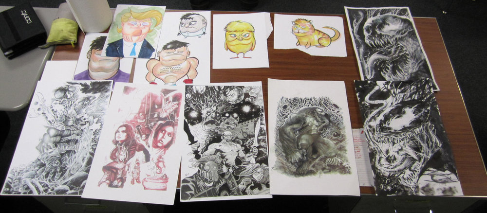 More examples of Matt's amazing artwork, shared with youth at Center Point School.