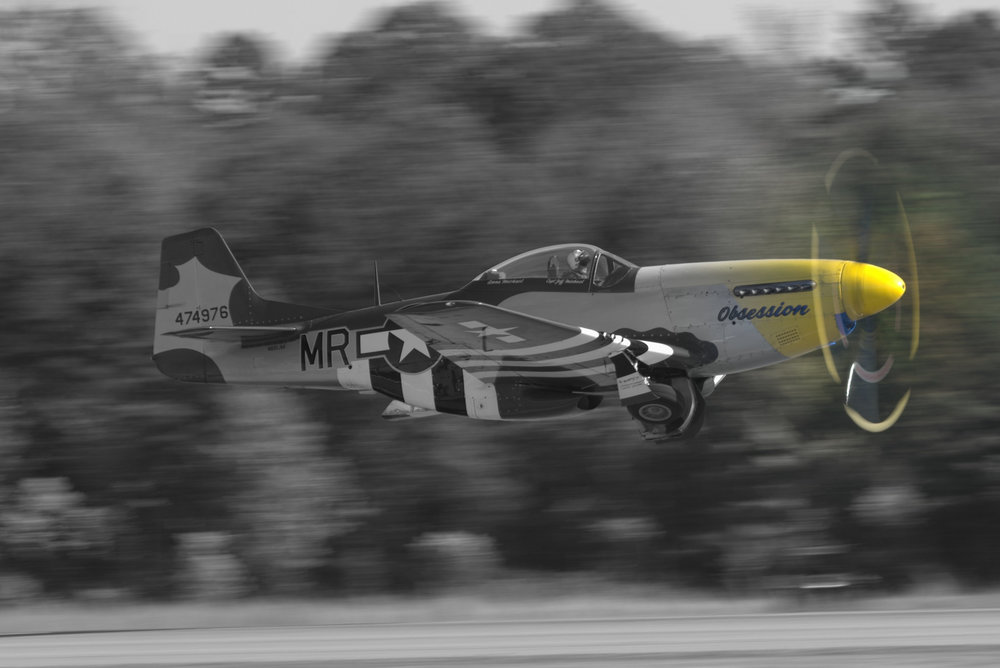 "Black & White with a Twist - P-51D Mustang ""Obsession"""