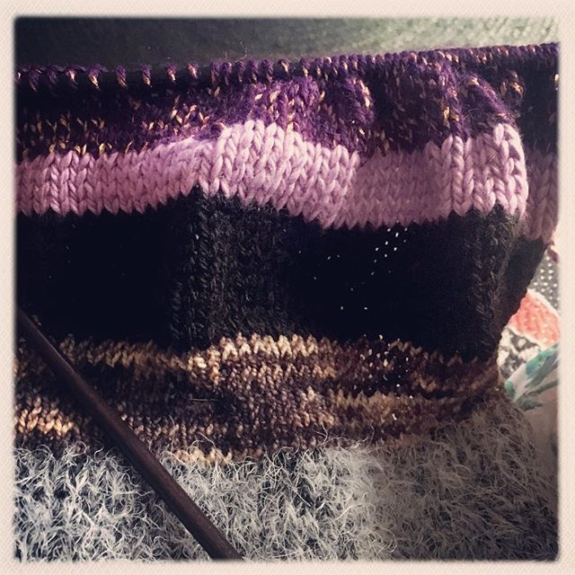 #knitting on a cloudy day x #allhailemilio #isaacmizrahicraft
