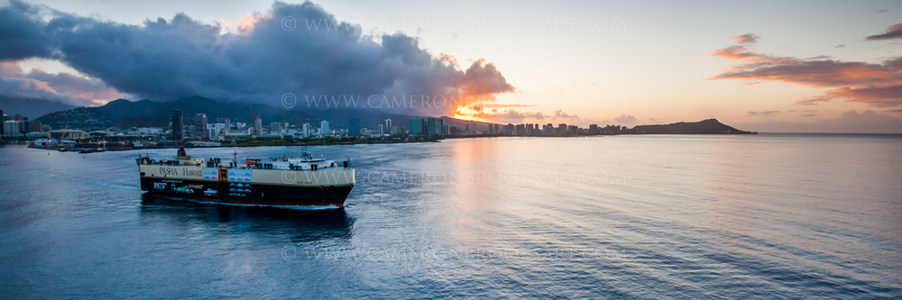 A BEAUTIFUL PANORAMIC PICTURE OF THE 'JEAN ANNE' TAKEN BY AERIAL PHOTOGRAPHER CAMERON BROOKS AT SUNRISE