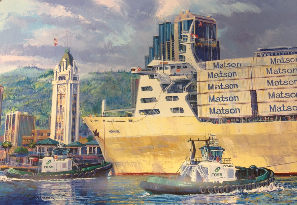 LIMITED EDITION PRINT OF OIL PAINTING BY MARSHALL JOHNSON, FEATURED IN 2015 FOSS CALENDAR, MONTH OF JUNE