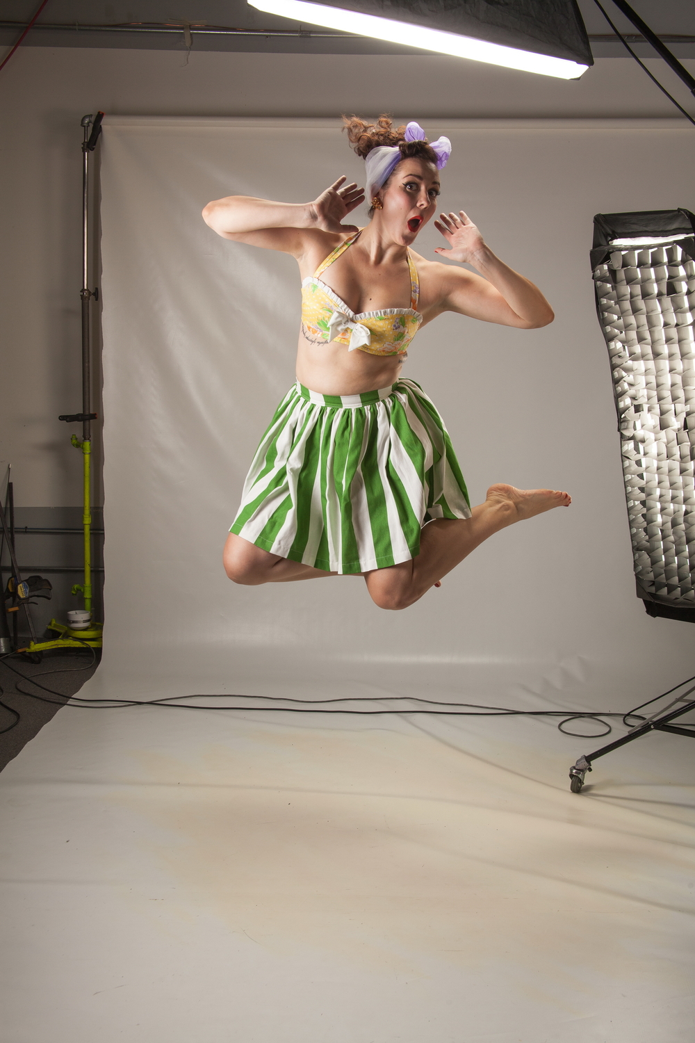 This adorable custom play suit from  Lizzy D Creations  was perfect for some action shots!