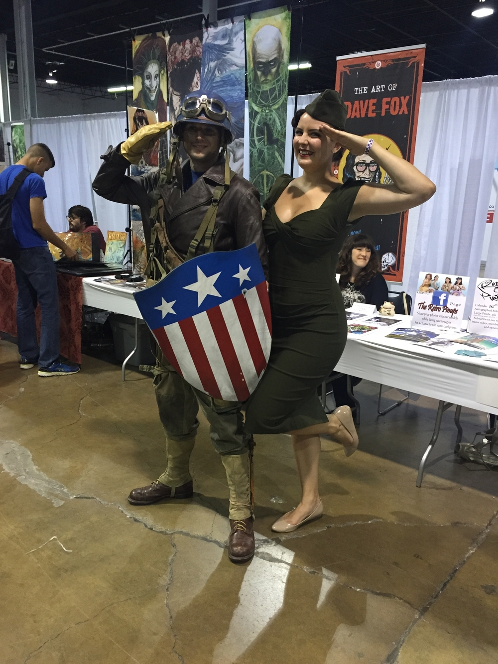 Finally found the Captain America to my Peggy Carter!  (PS - this is the same cosplayer that was the ghostbuster on Thursday)