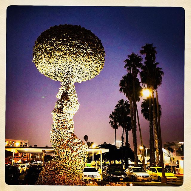 "Just a few blocks from the Pacific Ocean, ""Chain Reaction"". #art #santamonica #photography#instagood #chainreaction"