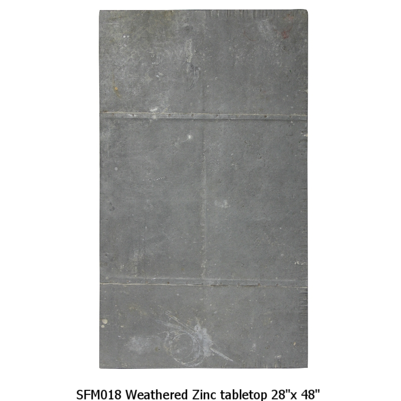SFM018 Weathered Zinc Tabletop 28_x 48_