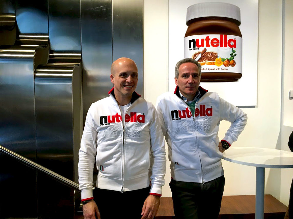 Trend 4: Brand Ambassadors - Like other brands aiming to extend their presence, Nutella has tapped into a brand ambassador with Chef Rocco Dispirito, who was on hand for the grand opening of the cafe. The value? Built-in cache that parallels and enhances corporate identity and personality in appearance, demeanor, values, and voice.