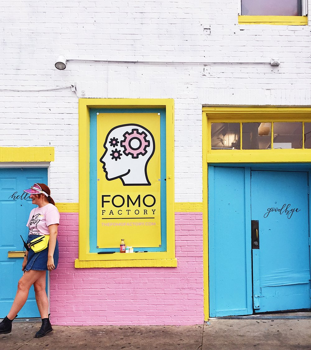 """The FOMO Factory is an immersive, multi-sensorial exhibit - Following the immersive art exhibit concept, The FOMO Factory is an immersive selfie """"wonderland"""" retail shop filled with multi-sensorial spaces where attendees are invited to take photos and marvel at larger-than-life retail displays with the intention of delivering a new shopping concept."""