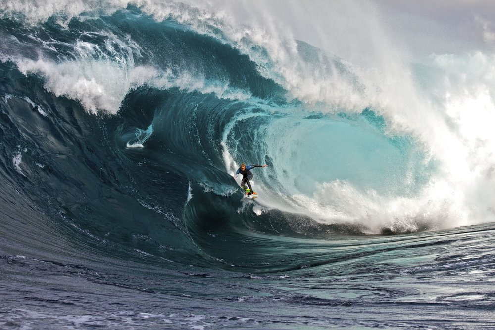 Mark Matthews surfing Ship Stern Bluff in Tasmania