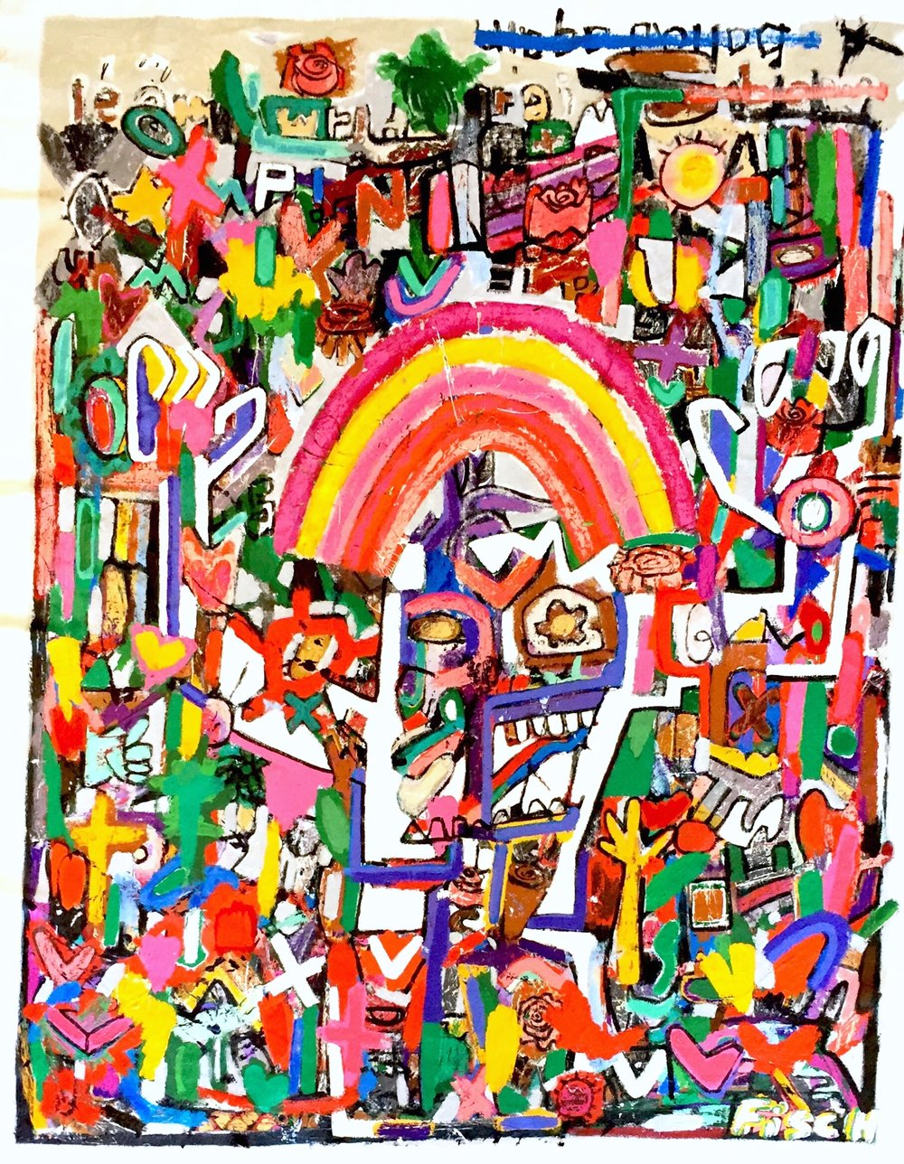 """The Whirling Rainbow Man, 64x51"""""""