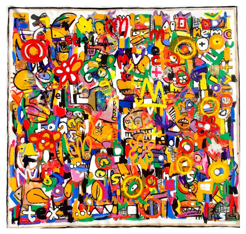 """Where All Things Are Free, 63x66"""""""