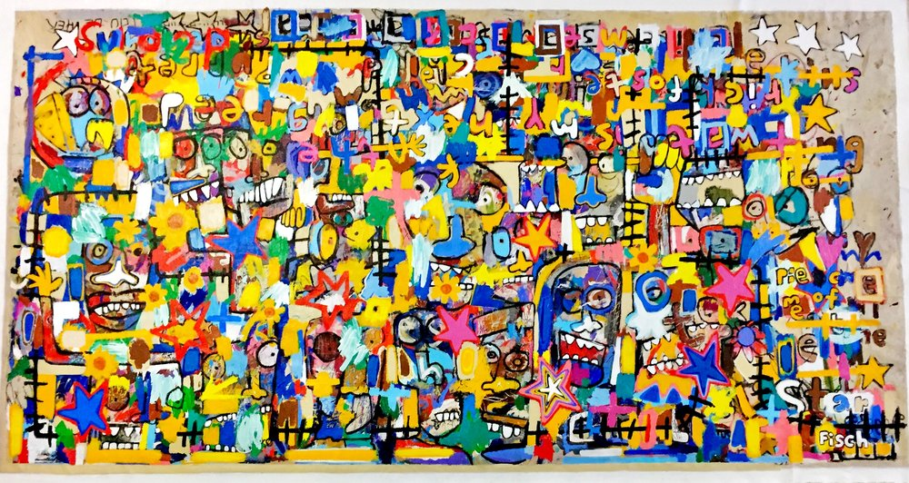 """Company of Marionettes, 66x126"""""""