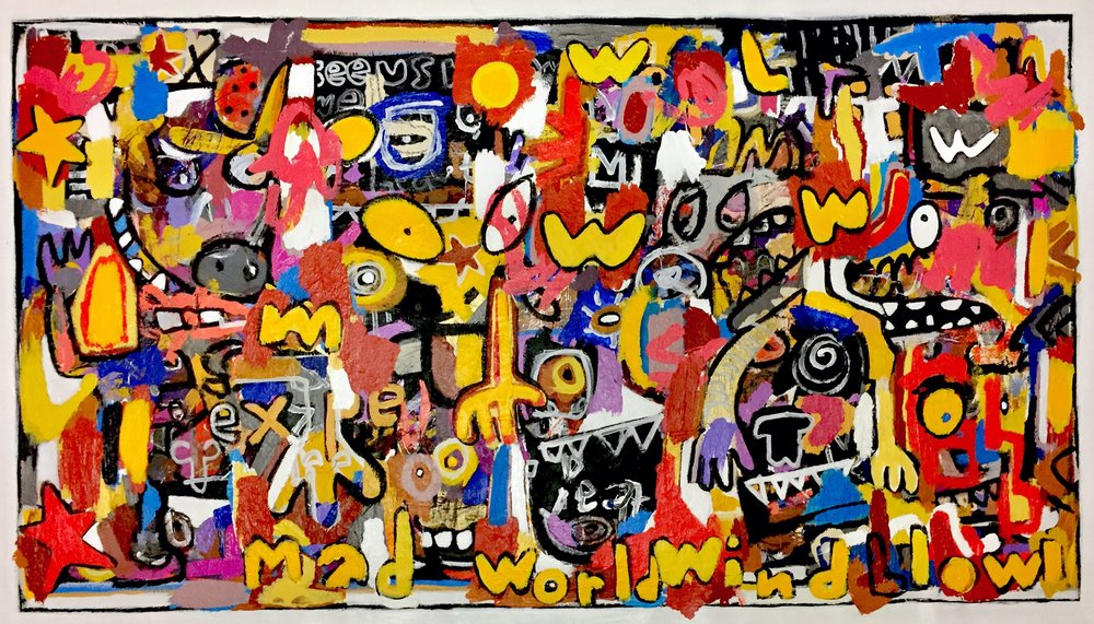 Mad World, 32x56""