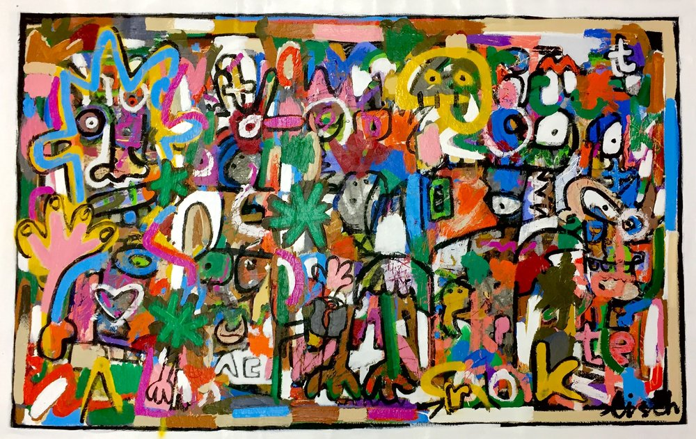"""And The Crooked, 32x51"""""""