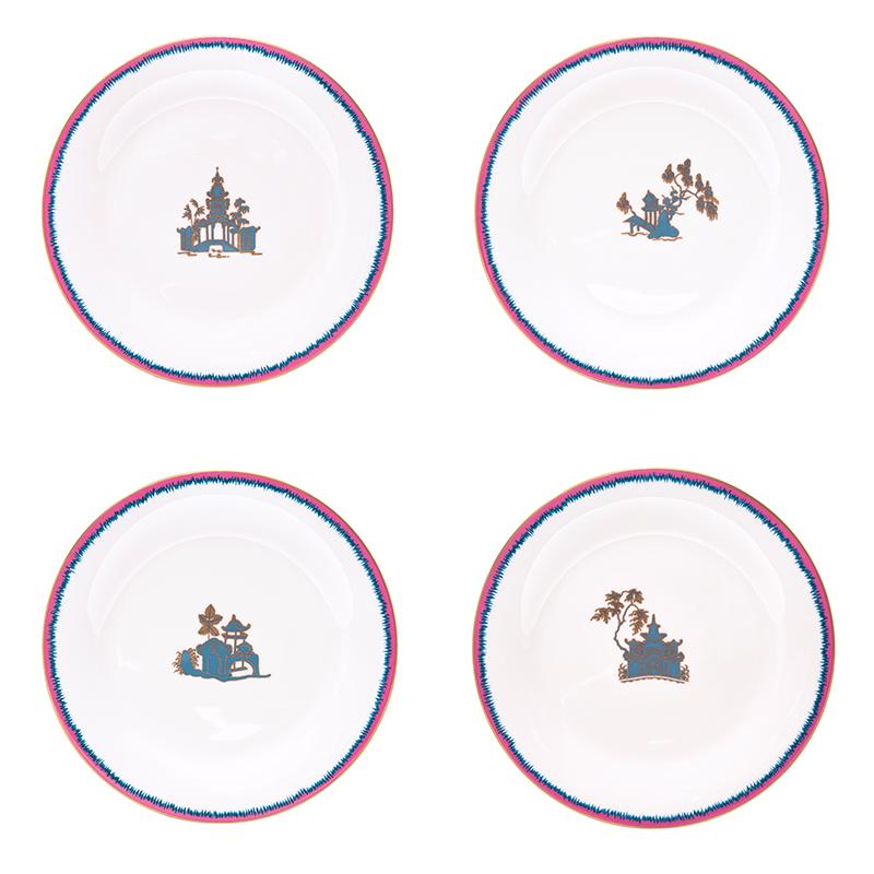 Fiamma Pagoda Porcelain Dinner Plates