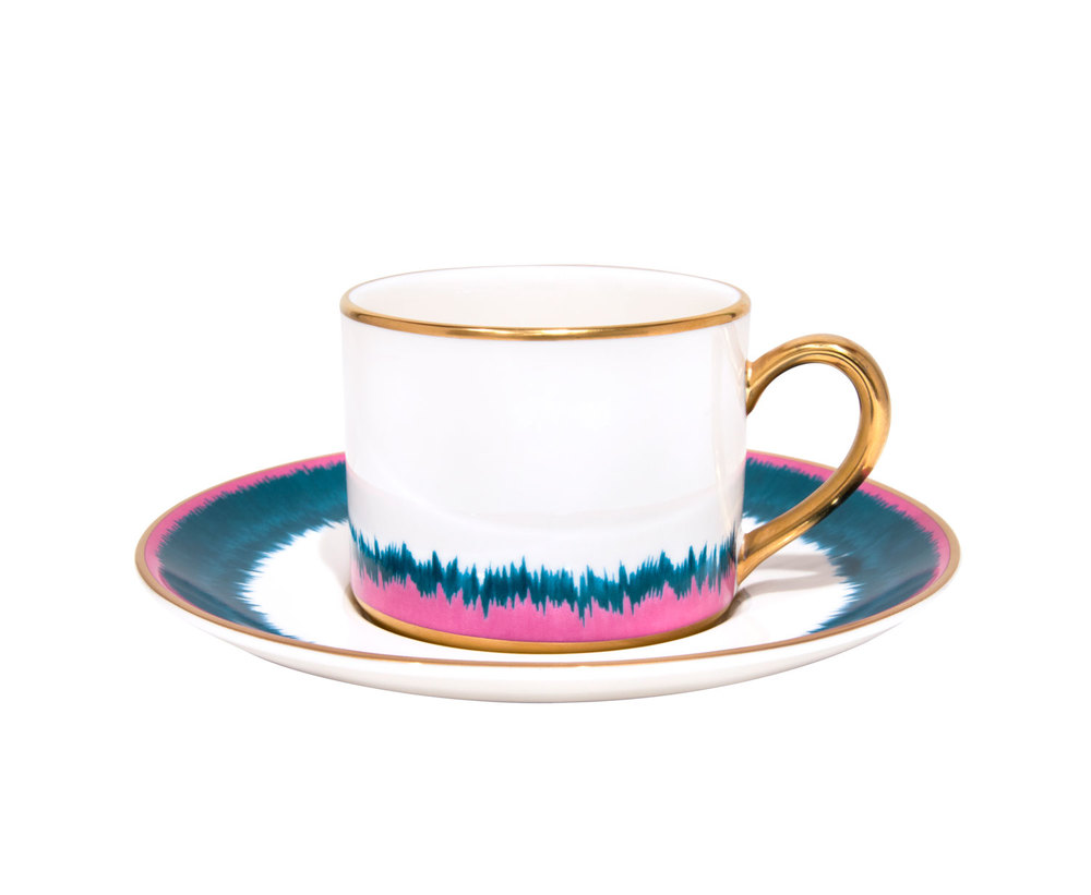 Fiamma Pagoda Porcelain Coffee Cup & Saucer