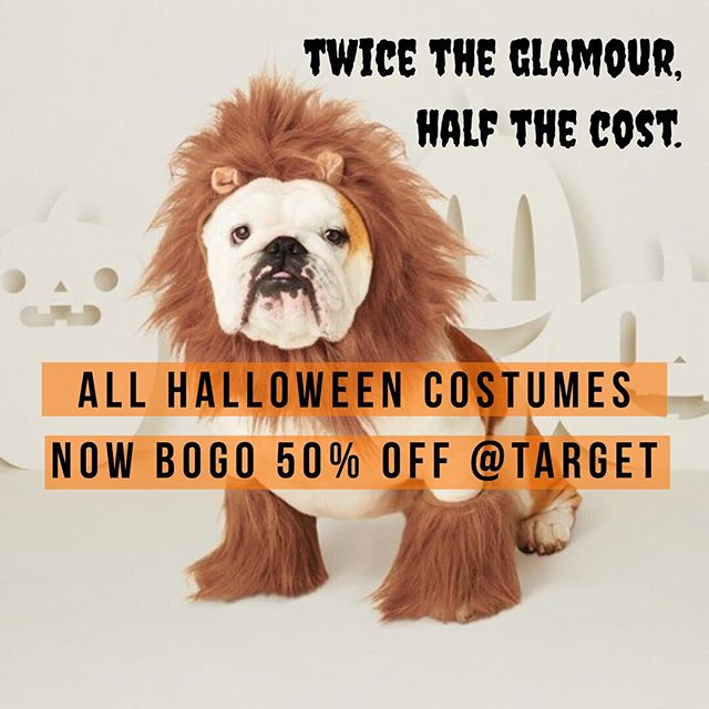 Pssst - all Halloween is BOGO 50% OFF at Target ( and so are women's boots, babe! 😉) .  LINK IN BIO! 😉 #fallguide2018 . Check out the fall guide for our favorite picks! ☺️💕⠀ .⠀ .⠀ .⠀ #target #ad #charlottenc #womenowned #dogcostumes #fido #petcostumes #dogmom #catlady #halloween #targetstyle #targetfinds #fallguide2018 #shoppersonal #liveyourlife