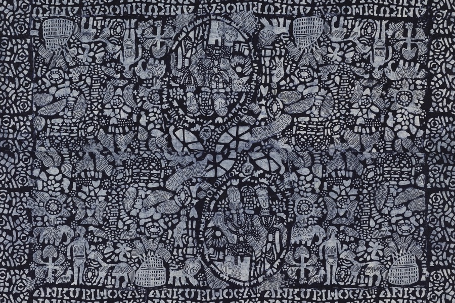 Image above: Nigerian textile, resist-dyed with indigo from the collection at the  Cooper-Hewitt Museum