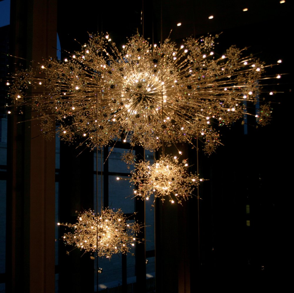 The famous Metropolitan Opera House chandeliers (full story of these beauties here)