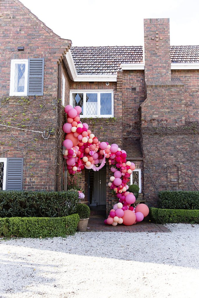 Balloon installation by Australian-based Poppies for Grace for Chyka.