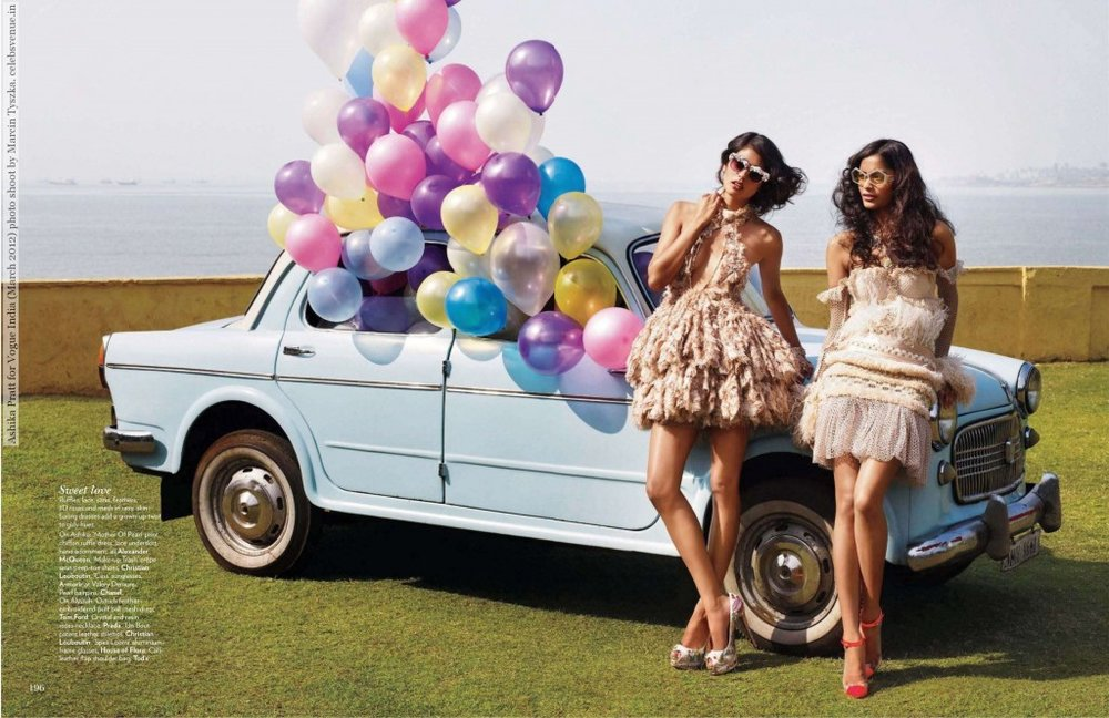 Balloons in the pages of Vogue India.