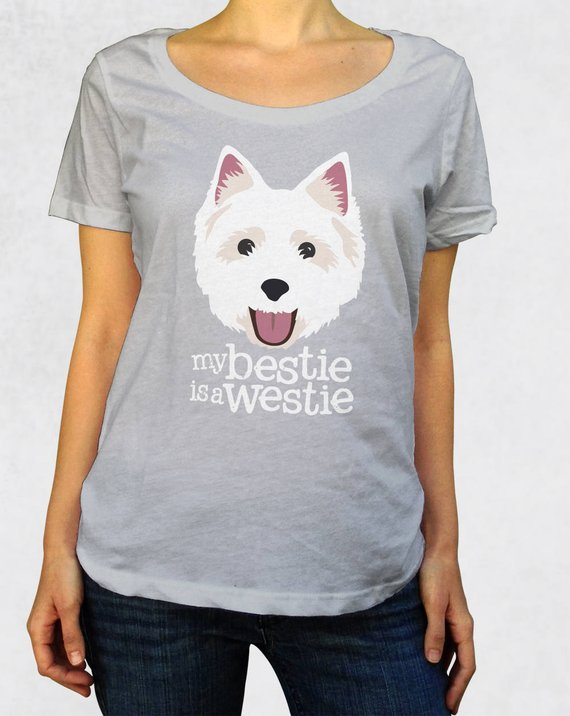 My Bestie is a Westie Women's Scoop Tee