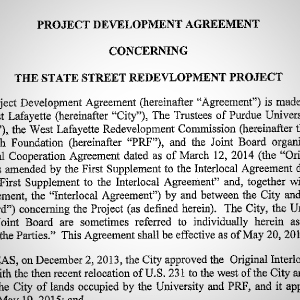 Project Development Agreement Document [pdf - 1.9MB] - posted 6/5/15