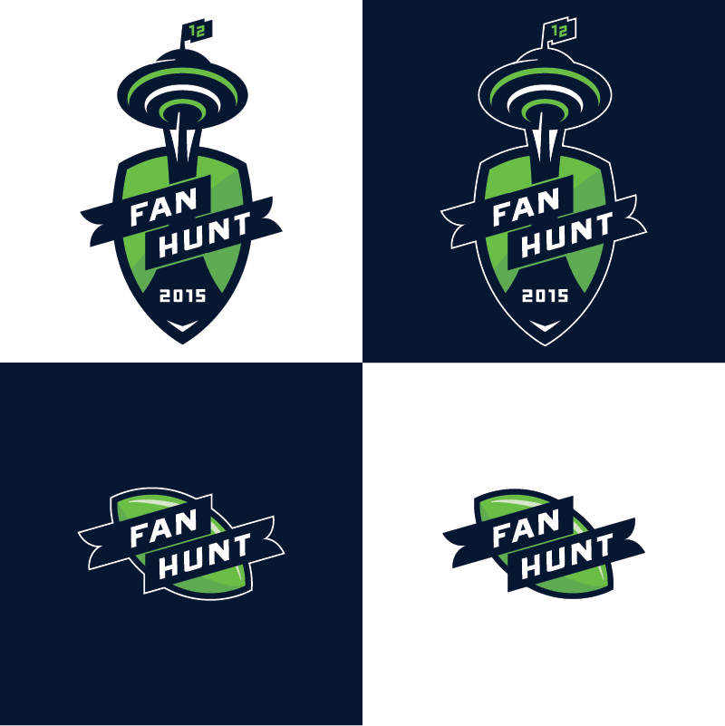 Vertical and horizontal versions of the logos.