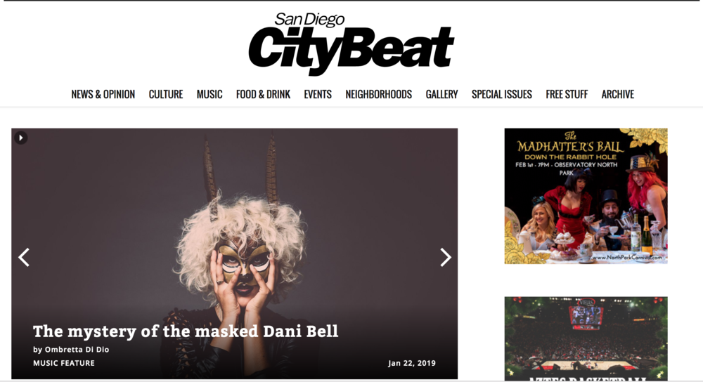 CHECK OUT THE COVER FEATURE OF SAN DIEGO CITYBEAT!
