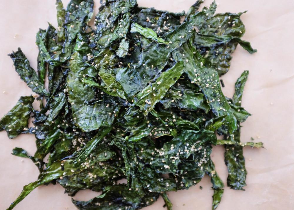 Furikake kale chips