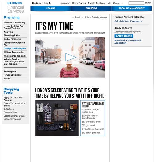 Hondafinancialservices Com Account Management >> Honda Shelby Larosa