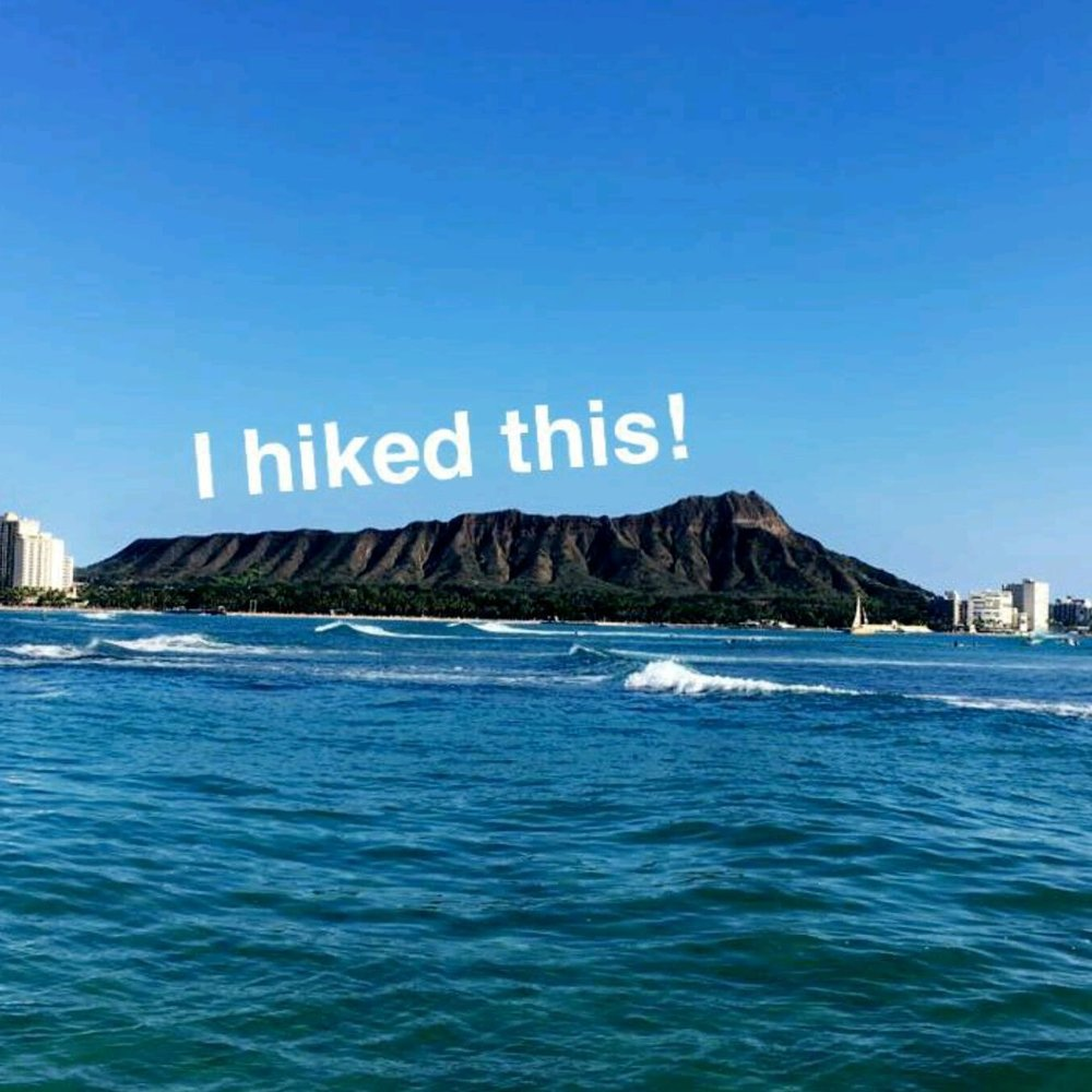 Sent in by a client after hiking Diamond Head