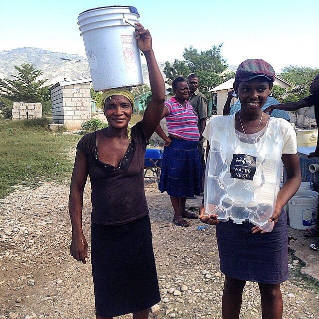 Tradition meets the Fritz Water Vest in Haiti #WalkWithFritz #WaterCrisis #haiti