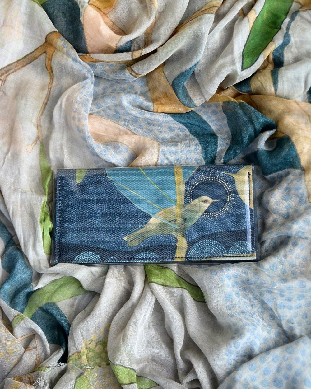 collaboration with kitty came home // limited edition clutches printed with artwork from 'when it is dark enough you can see the stars'.