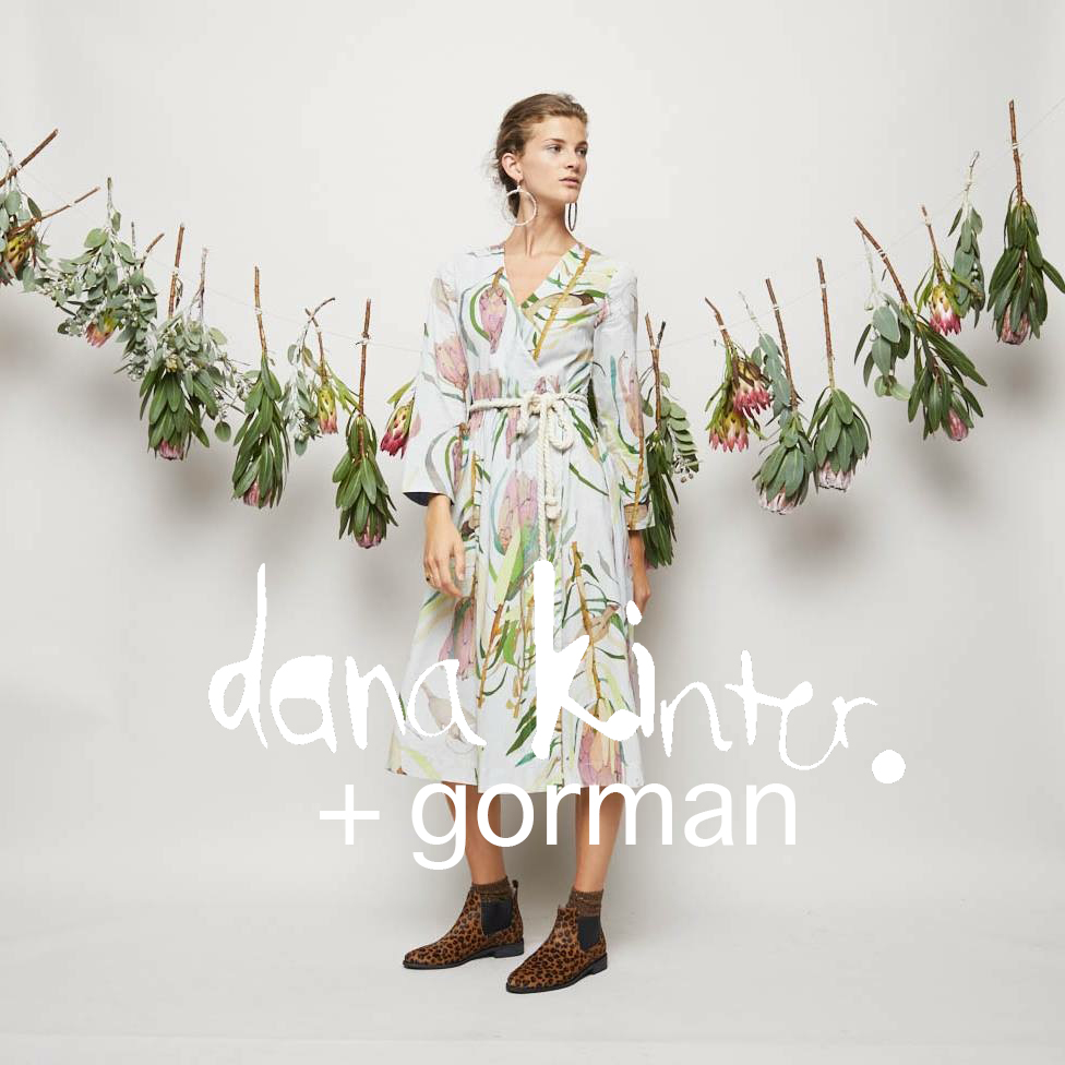 GORMAN danakinterxgorman winter 2017 // protea wrap dress