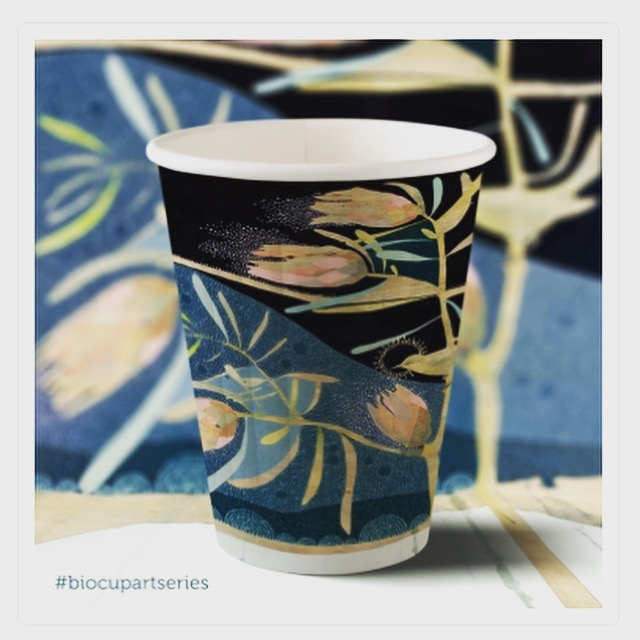 BioCup // artist series recyclable coffee cup