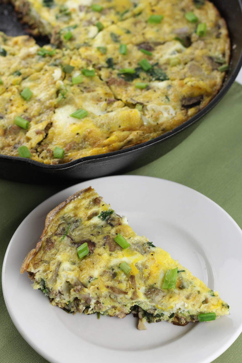 Sausage& Spinach Frittata