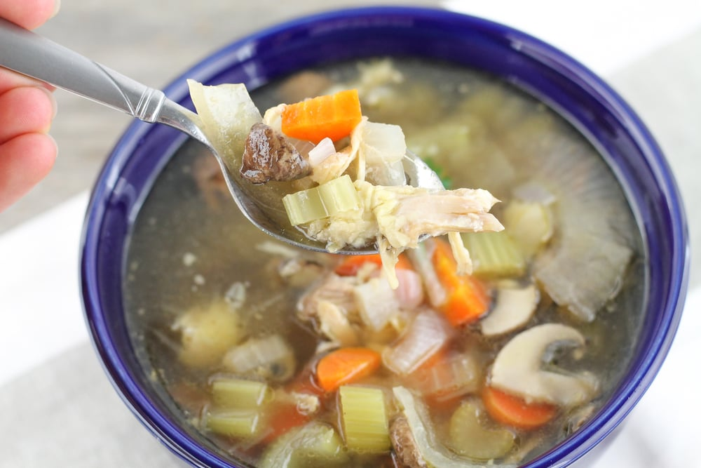 Paleo Chicken Soup, real food, healing, gluten free, grain free
