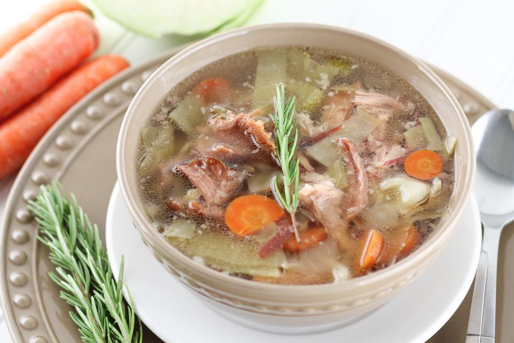 Homemade Paleo Ham Bone Soup, Dairy Free, Real Food, 21DSD