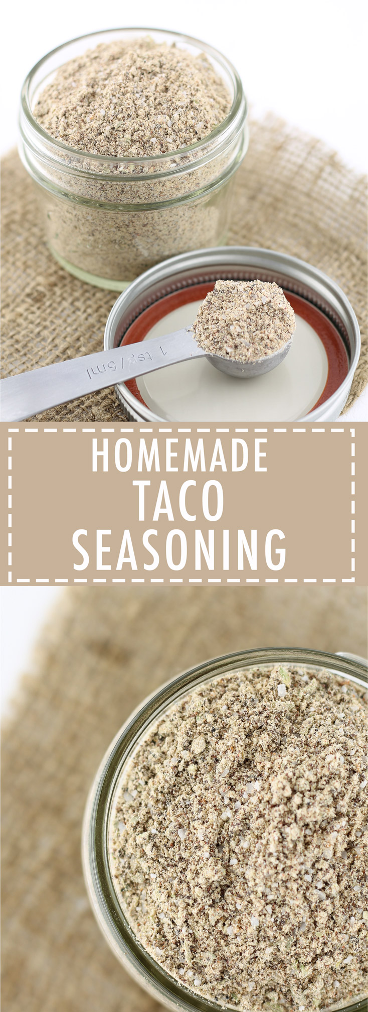 Homemade, Taco Seasoning, Paleo, Whole30, Real Food, Non-Processed, Flavorful,