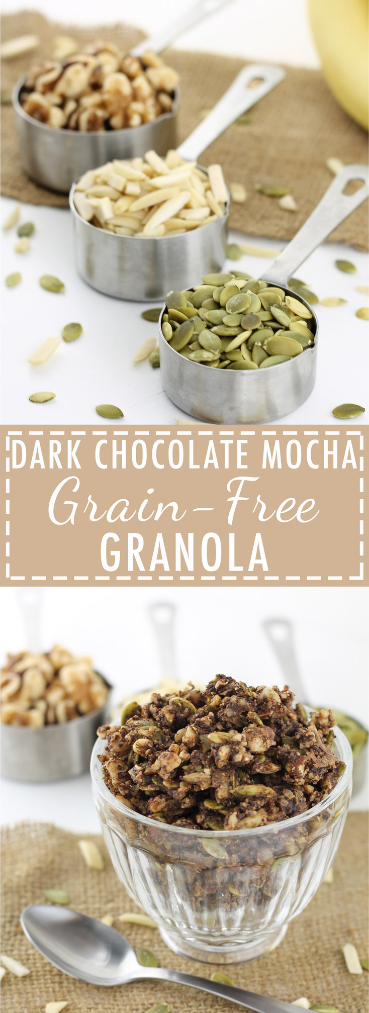 Dark Chocolate, Grain Free Granola, Paleo Granola, Mocha, Gluten Free, Paleo Recipes, Homemade, Cereal