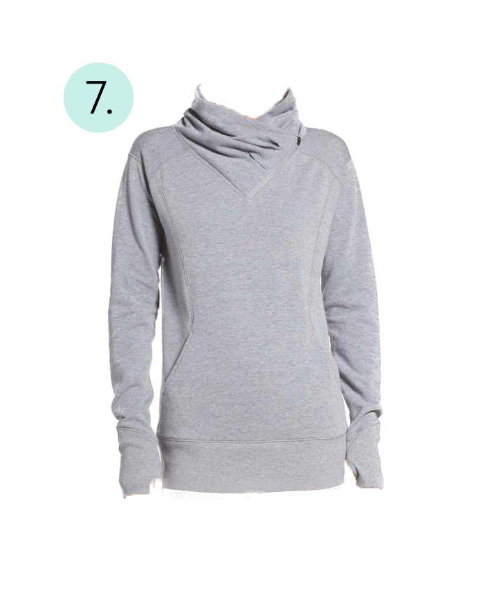 Zella Asymmetrical, Pullover, Cowl Neck, Zipper, Comfy, Cozy, Post Workout, Long Sleeve,