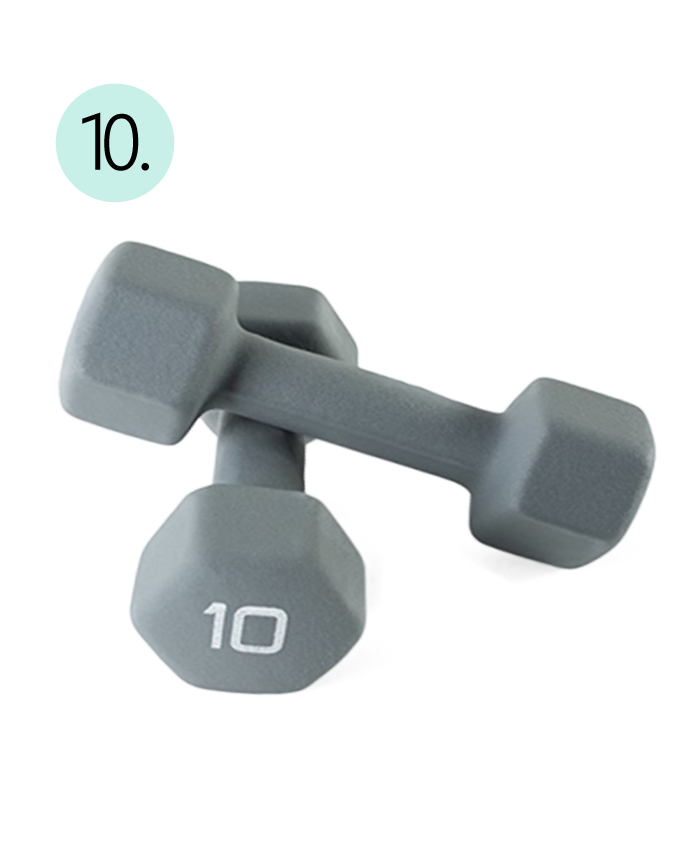 Dumbbells, Home Workout, 10lb, Neoprene, Weights, Exercise, Lift, Strength, Dumb Bells, Equipment