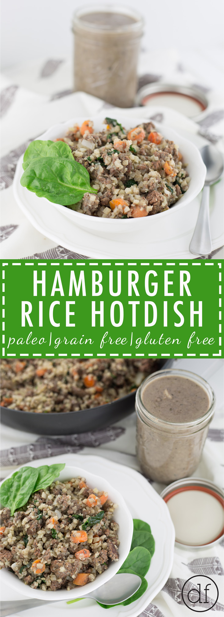 Hamburger Rice Hotdish, Healthy Hotdish, Healthy Recipes, Minnesota, Comfort Foods, Real Food, Gluten Free, Grain Free, Dairy Free, Paleo, Whole 30, Healthy Meals, Cauliflower Rice,