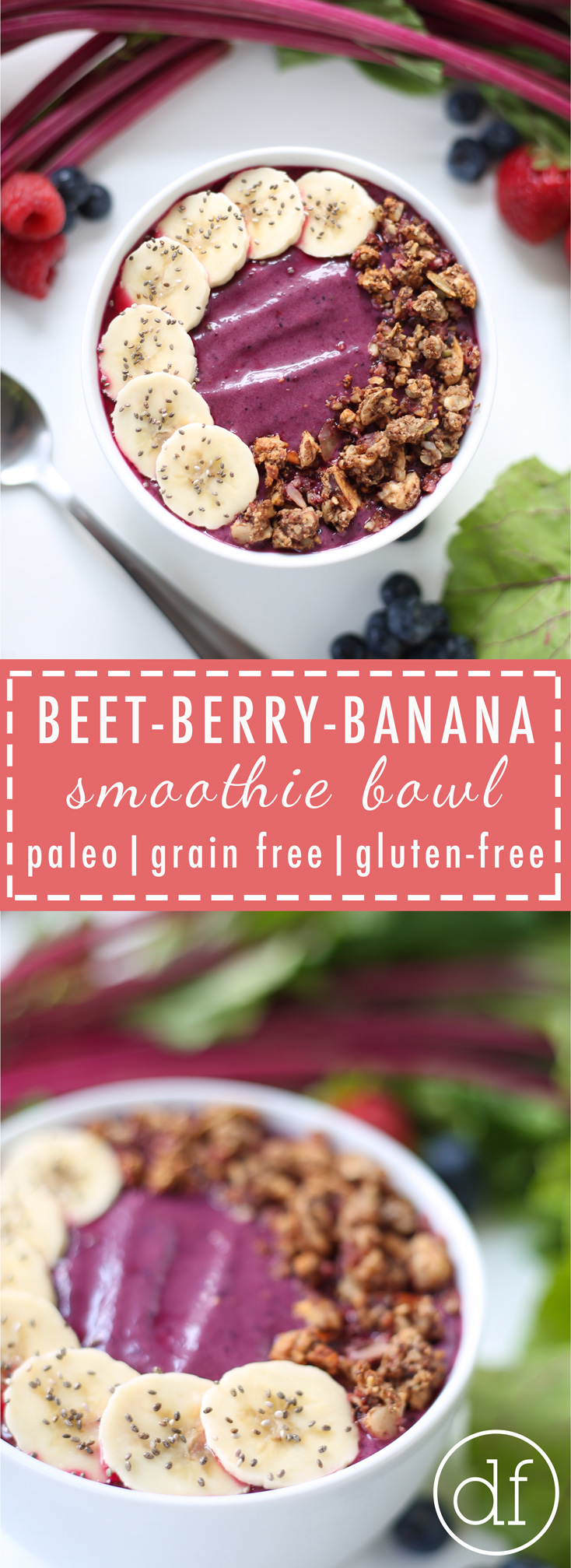 Smoothie Bowl, Paleo, No Added Sugar, Grain Free, Gluten Free, Dairy Free, Whole 30,