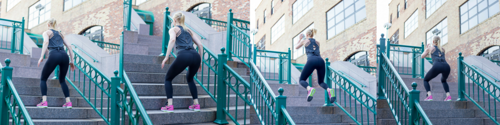 squat jumps, stairs, stair squat jumps, ascending squat jumps, outdoor cardio exercises, stair exercises, stair workout,